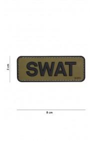 Patch 3D PVC SWAT Green/Black