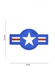 Patch 3D PVC U.S. Air Force Blue